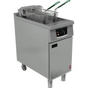 Falcon E401 Twin Basket Fryer with Manual Controls
