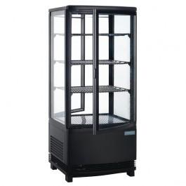 Polar DP288 C-Series Black Panoramic Display Cabinet with Curved Doors