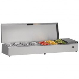 --- WILLIAMS TW15-SS --- Thermowell Refrigerated Stainleess Steel Topping Shelf