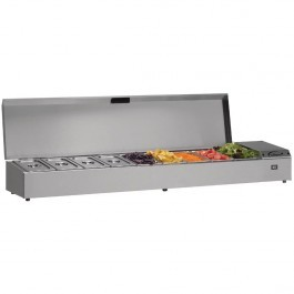 Williams TW18-SS Thermowell Refrigerated Stainleess Steel Topping Shelf