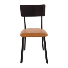 Bolero DR300 Metal & PU Side Chairs Vintage Camel - Pack of 4