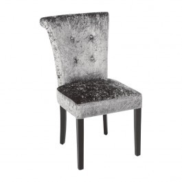 Bolero DR308 Olive Grey Crushed Velvet Dining Chair - Pack 2