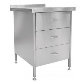 Parry DRAWER3 Stainless Steel 3 Drawer Unit