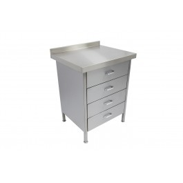 Parry DRAWER4 Stainless Steel 4 Drawer Unit