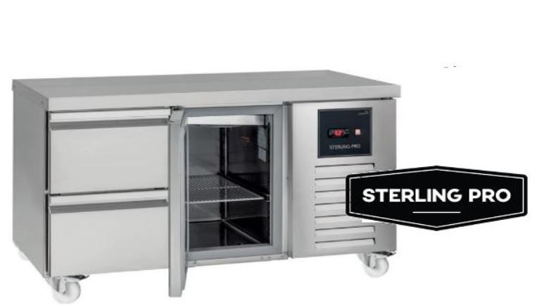 Sterling Pro Green SPI-7-180-30-SP Triple Counter Plain Top Fridge - 452 Litres