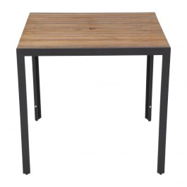 Bolero DS152 Acacia Wood Top and Steel Base Square Table 800mm
