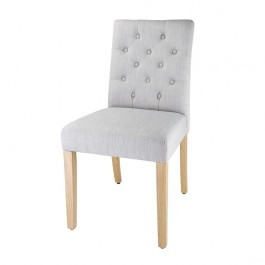 Bolero DT698 French Grey Chiswick Button Dining Chair - Pack 2