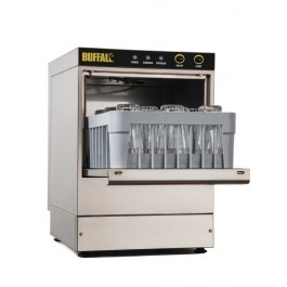Buffalo DW464 Undercounter Glasswasher with Drain Pump & 350mm Baskets - G35