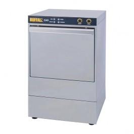 Buffalo DW467 Undercounter Glasswasher with Drain Pump & 400mm Baskets - G40