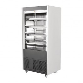 Polar DY398 Stainless Steel Multideck with Roller Shutter Door - W1850mm