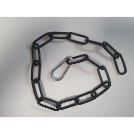 Bolero DY479 Steel End Barrier Black Plated Chain - 1500mm
