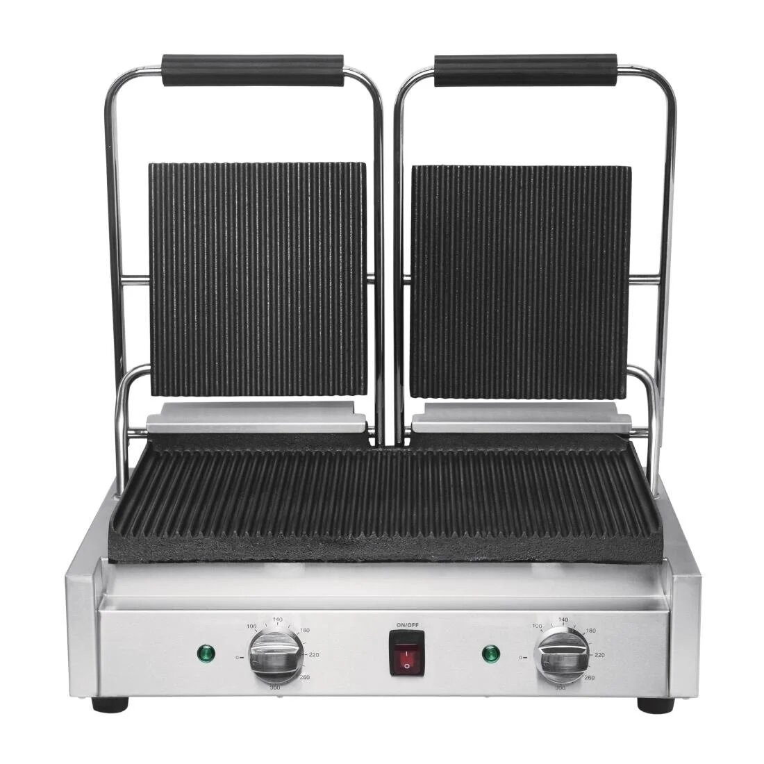 Buffalo DY994 Bistro Double Ribbed Contact Grill