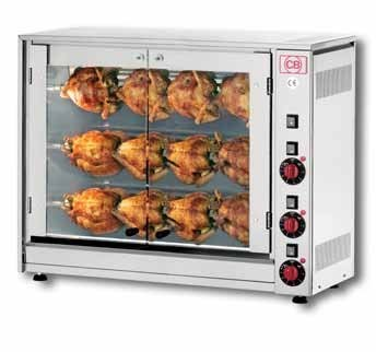 CB Rotisseries E12P-S3 Three Spit Electric Chicken Rotisserie