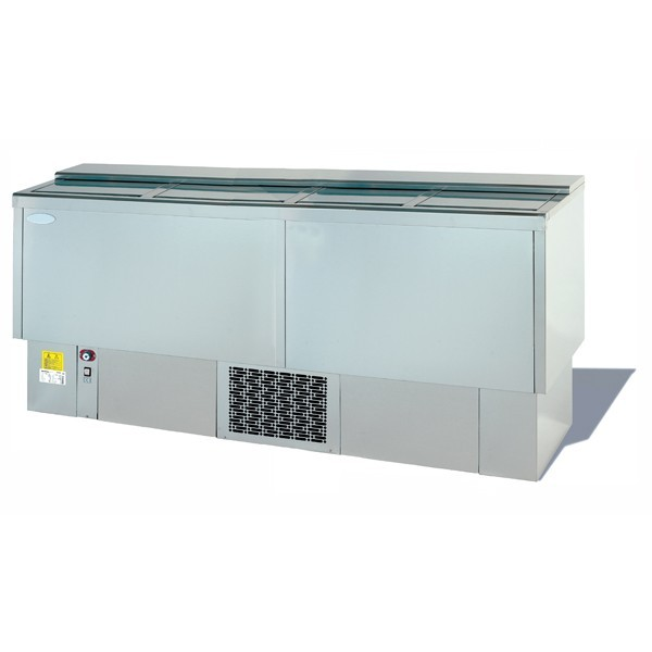 --- INFRICO EFP2000SS --- Stainless Steel Beer Dump with Four Lids