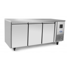 Atosa EPF3432HD Three Door Counter Fridge with Splashback & Drawer Options
