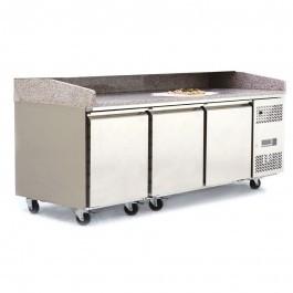 --- ATOSA EPF3485GR --- Triple Door Granite Top Pizza Counter Fridge