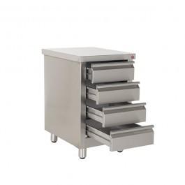 Inomak ES764C Stainless Steel Four Drawer Pedestal