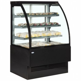 Interlevin EVO1200 B HOT Italia Range Black Hot Display Cabinet