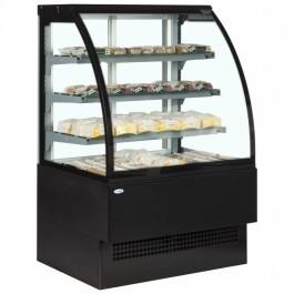 Interlevin Italia Range EVO1800 B HOT Black Hot Display Cabinet