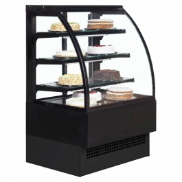 Interlevin Italia Range EVO1800 B Black Patisserie Display