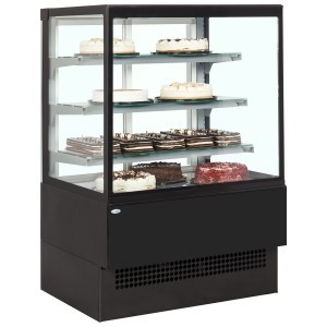 Interlevin Italia Range EVOK900 Black Patisserie Display Cabinet