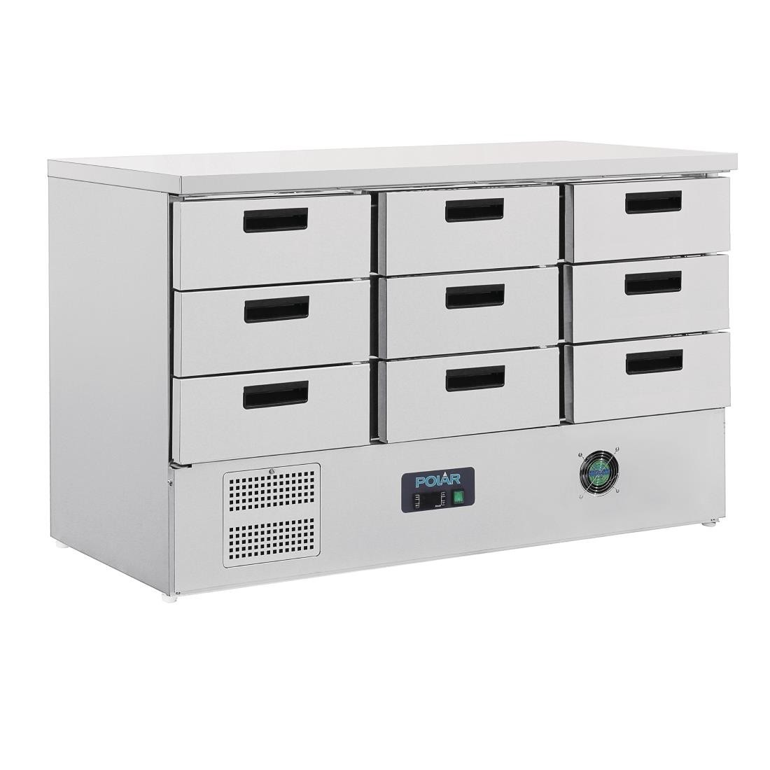 Polar FA441 G-Series Refridgerated Counter with Nine Drawers