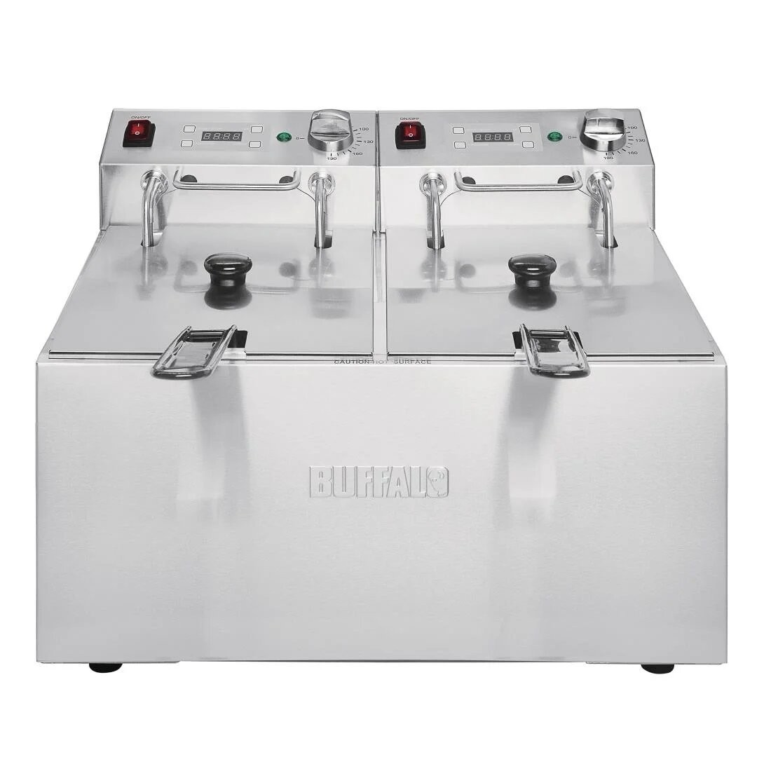 Buffalo FC259 Twin Tank Countertop Fryer with Five Litre Tanks & Timers