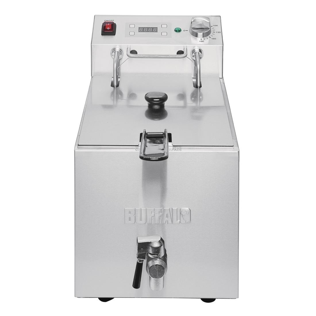 Buffalo FC374 Single Tank Countertop Fryer with Timer