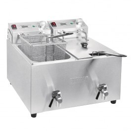 Buffalo FC375 Twin Tank 2 x 8 Litre Countertop 2 x 2.9kW Fryer with Timer