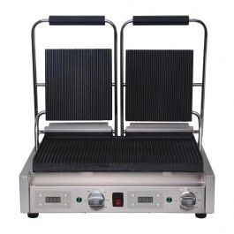 Buffalo FC383 Double Contact Grill with Ribbed Top & Bottom Plates