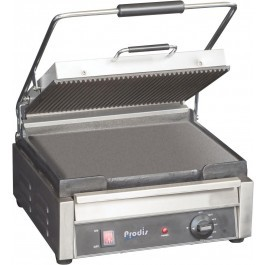 Prodis FCG1 Ribbed Top Flat Bottom Contact Grill