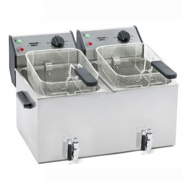 Roller Grill FD80DR Double Countertop Fryer with Drain Tap