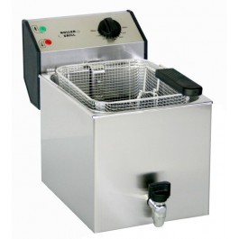 Roller Grill FD80R Single Countertop Fryer with Drain Tap