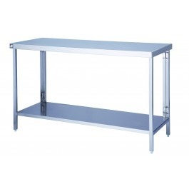 Parry FTAB06650 Fast Self Assembly Stainless Steel Table - D650mm
