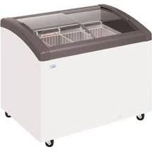Elcold FOCUS73 Curved Sliding Glass Lid Chest Freezer