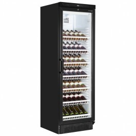 Tefcold FS1380W-B Upright Black Wine Cooler with 7 Shelves