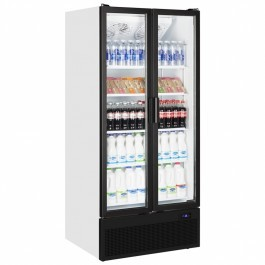 Tefcold FS890HP Double Hinged Glass Door Upright Refrigerator