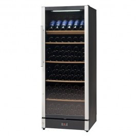 Vestfrost FZ295W-BLACK Upright Glass Door Wine Cabinet with a Dual Zones