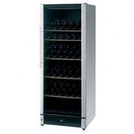 Vestfrost FZ295W-SILVER Upright Glass Door Wine Cabinet with a Dual Zones