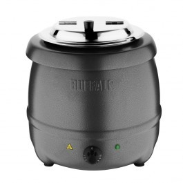 Buffalo G107 Graphite Grey Soup Kettle with Adjustable Heating - 10 Litres