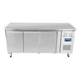 Polar G378 U-Series Three Door Slimline Counter Refrigerator - 338 Litres