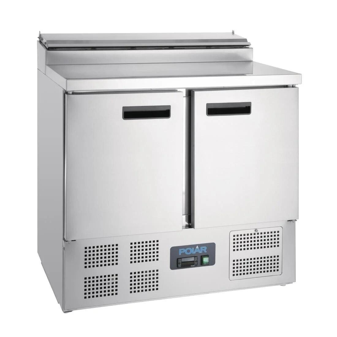 Polar G604 G-Series Two Door Pizza Prep Counter Fridge - 254 Litres