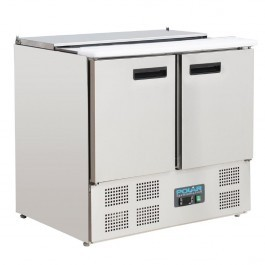 Polar G606 Two Door Refrigerated Saladette Counter