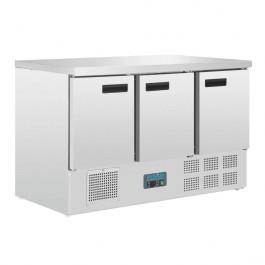 Polar G622 G-Series Three Door GN 1/1 Counter Fridge - 368 Litres