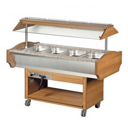 --- BLIZZARD GB4-HOT --- Teakwood Heated 4 GN 1/1 Display with Granite Top