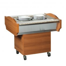 --- BLIZZARD GB900PLATE --- Teakwood Dual Heated Plate Dispenser