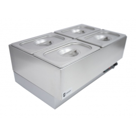 Parry GBM4W Electric Wet Heat Bain Marie with 4 x 1/4 GN Pans