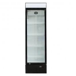 Blizzard GD350 Single Glass Door Merchandiser with 4 Shelves & Canopy