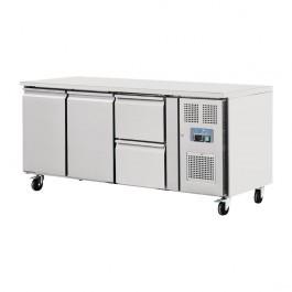 Polar GD874 U-Series 2 Door 2 Drawer GN 1/1 Counter Refrigerator - 417 Litres