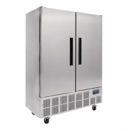 Polar GD880 Double Door Slimline Stainless Steel Upright Freezer